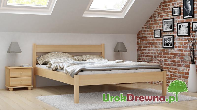 Łóżko z drewna bukowego do sypialni Pablo proste