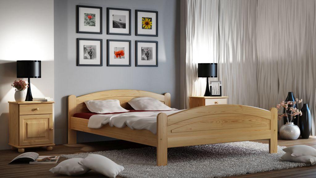 łóżko do sypialni drewniane sosnowe beta