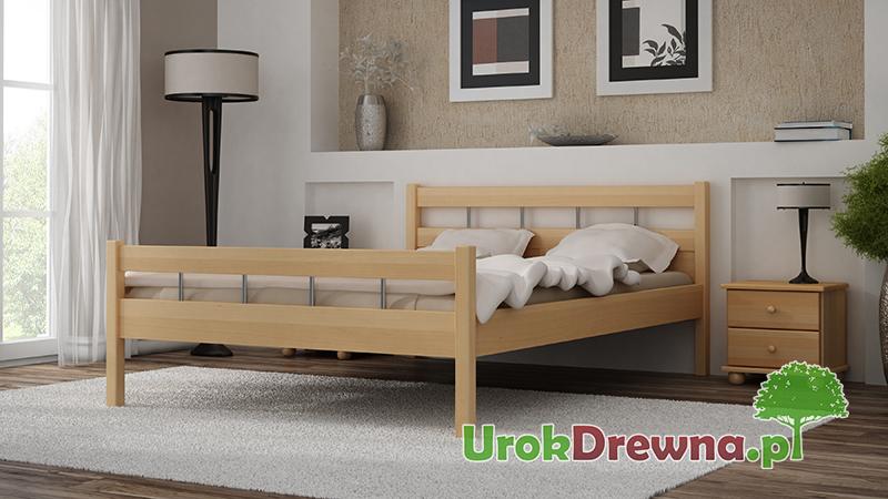 Łóżko sypialniane z drewna bukowego Ritmo