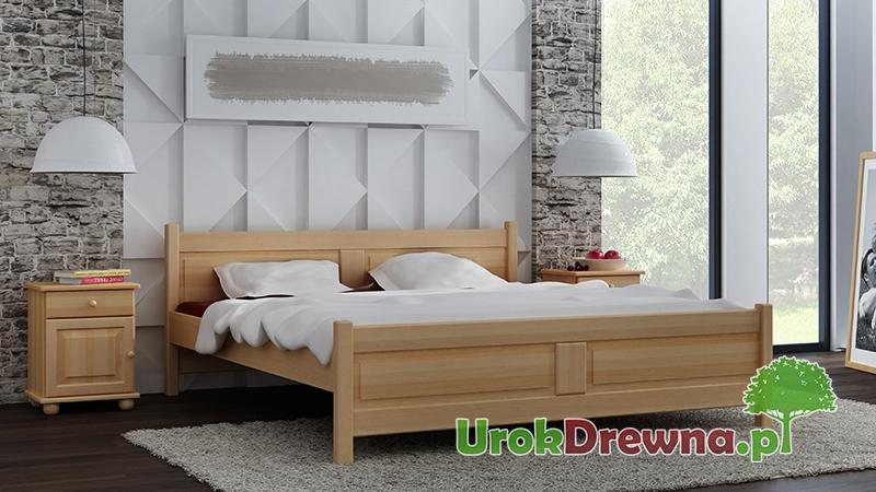 Łóżko drewniane bukowe do sypialni Filonek II, kolor buk naturalny