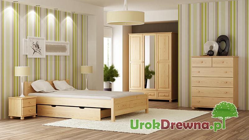 Łóżko z drewna sosnowego do sypialni Filonek 140x200 160x200