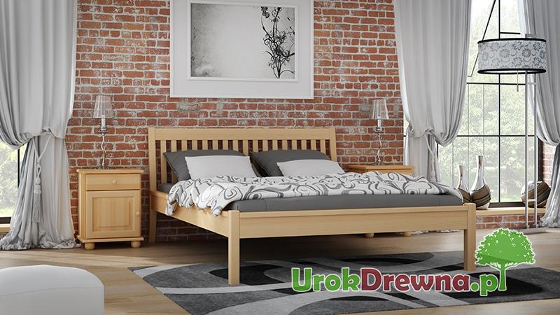 Łóżko do sypialni drewniane bukowe Ida