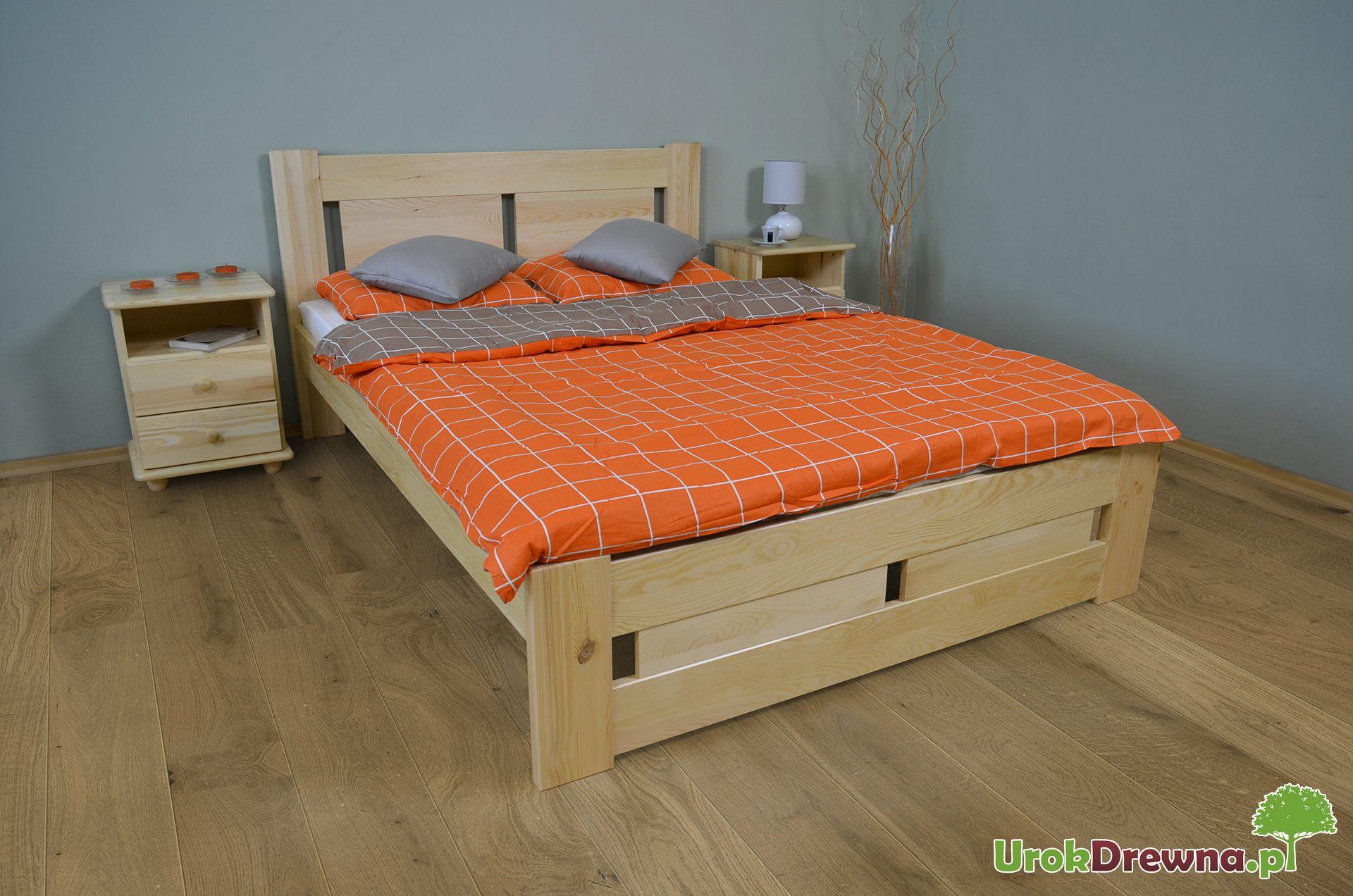 łóżko Do Sypialni Sosnowe Nela 160x200